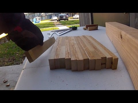 Cutting Board from Repurposed Wood