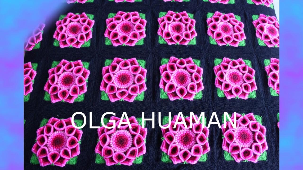 Colchas A Crochet Tejidos Olga Huaman Mix Alicia Delgado Youtube