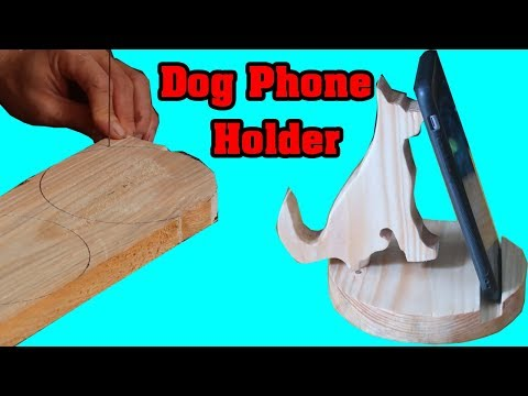 Dog Cell Phone Holder | Discover ideas about Wood Phone Stand