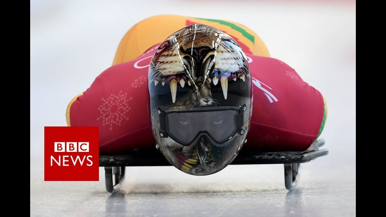 Winter Olympics 2018: Ghana's first skeleton competitor - BBC News #1