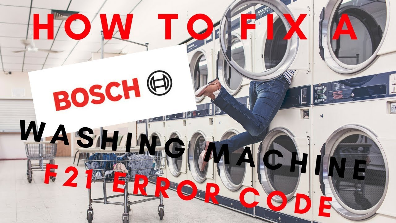how to fix a bosch washing machine with an f21 error code youtube. Black Bedroom Furniture Sets. Home Design Ideas