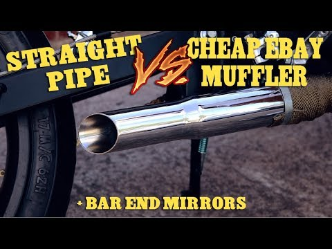 CHEAP EBAY MUFFLER + BAR END MIRRORS  - CB125 Cafe Racer Build - Part 41