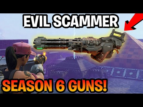 Dumb Kid Loses New Season 6 Guns! (Scammer Gets Scammed) Fortnite Save The World