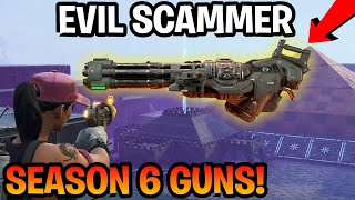 Dumb Kid perd nouvelle saison 6 Guns! (Scammer Obtient Scammed) Fortnite sauver le monde