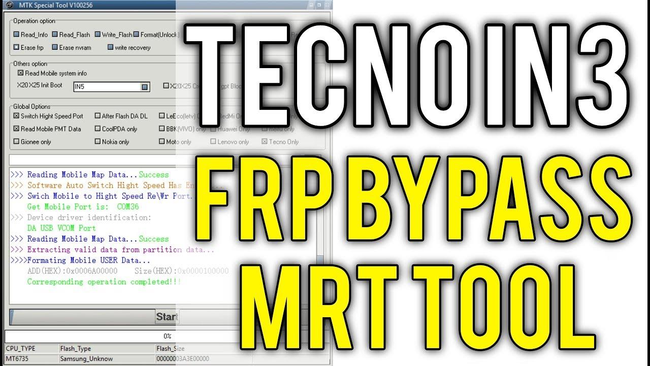 Tecno IN3 Frp Bypass MRT Tool