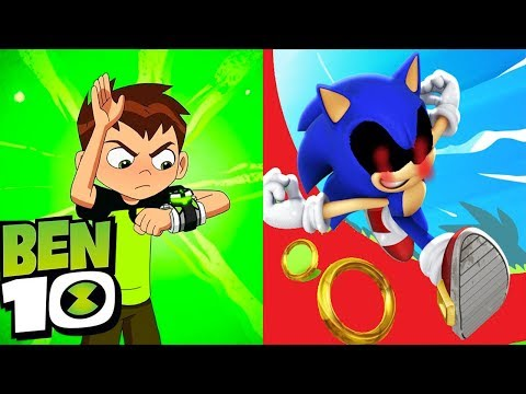 Sonic Dash Vs Ben 10 Up To Speed | Versus Gameplay HD