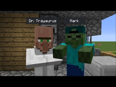 Minecraft DR TRAYAURUS VISITS MARK OUR FRIENDLY ZOMBIE'S HOUSE !! BEST FRIEND VS DANTDM !! Minecraft thumbnail