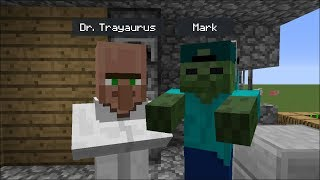 Minecraft DR TRAYAURUS VISITS MARK OUR FRIENDLY ZOMBIE'S HOUSE !! BEST FRIEND VS DANTDM !! Minecraft