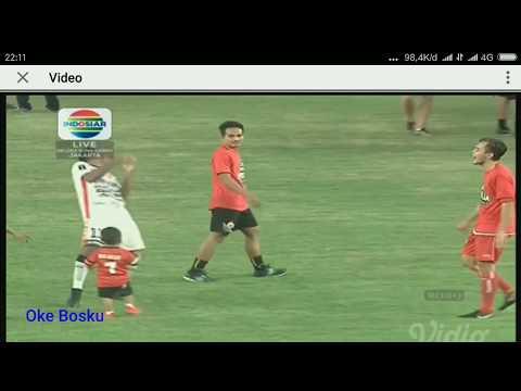 Tingkah lucu Anak Ramdani Lestaluhu di Final Piala Presiden