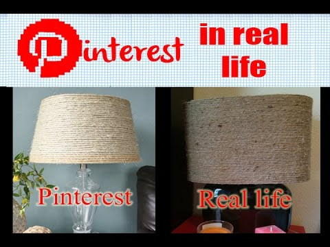 Diy rope lamp shade pinterest in real life youtube diy rope lamp shade pinterest in real life aloadofball Images