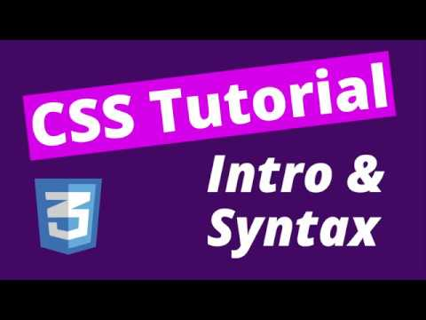 What is CSS & Syntax? (CSS Tutorial for Beginners (2020) - #1)