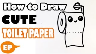 How to Draw a Toilet Paper Roll (Cute) - Easy Pictures to Draw