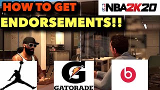 NBA 2K20 | HOW TO GET ENDORSEMENTS IN MYCAREER! | How To Get Shoe, Gatorade, And Beats Endorsement!