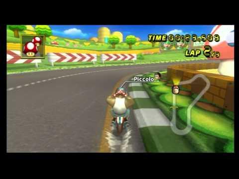 """Mario Kart Wii Time Trial: Luigi Circuit (1'10""""440)"""