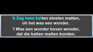 Ik Zag Twee Beren Broodjes Smeren, instrumentaal met karaoke tekst