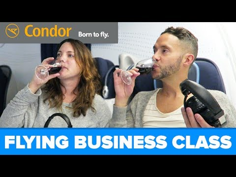 Condor BUSINESS CLASS - Our First Time!