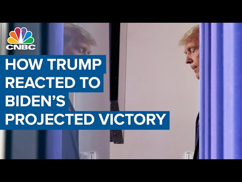 How Donald Trump, White House reacted to Joe Biden's projected election victory