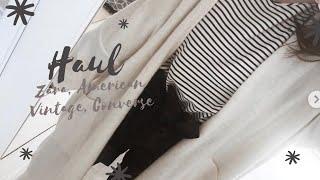 BIG FASHION TRY-ON HAUL   Zara, American Vintage, Converse, ...