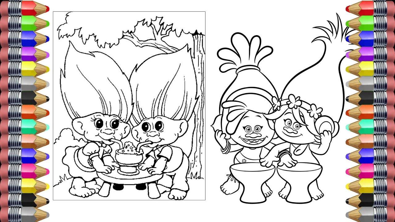 dreamworks trolls coloring pages coloring book videos for children