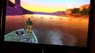 Bass pro shops: strike for wii striper fishing game play