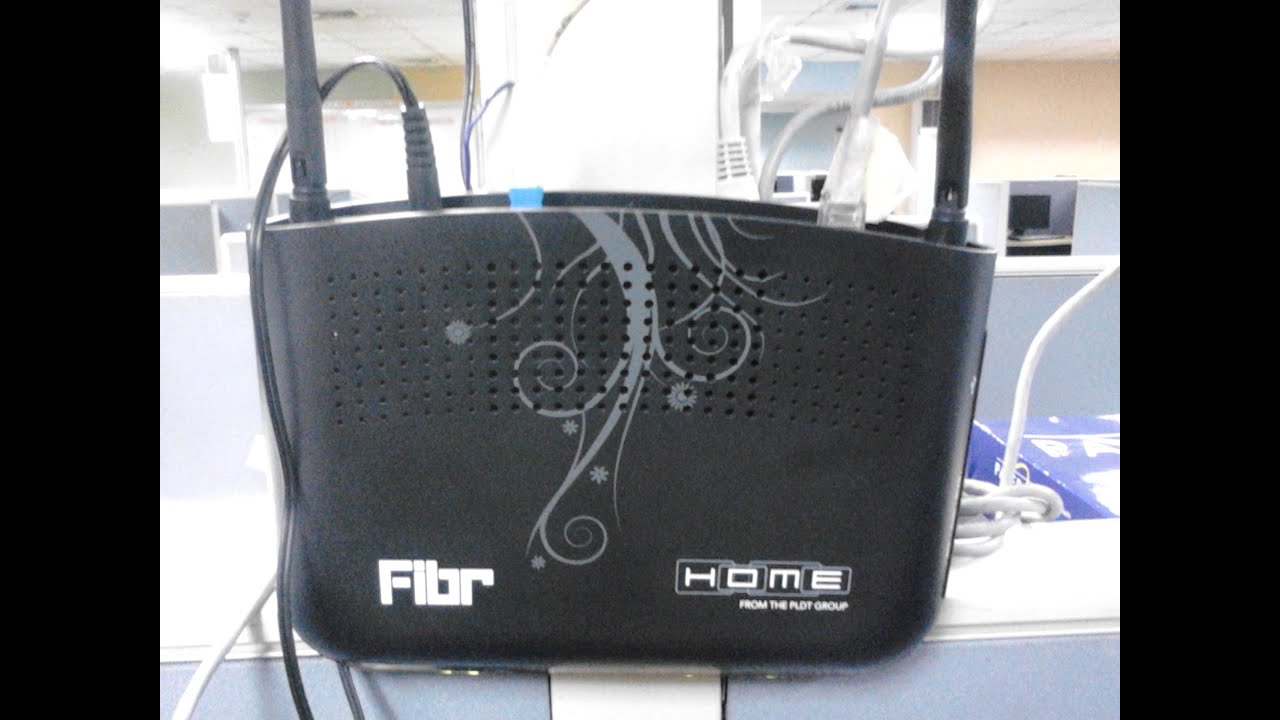 PLDT New Wireless FIBR Modem-How to Setup WiFi - YouTube