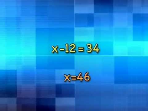 MATH DUDE Unit1-2 Solving One Step Equations - YouTube