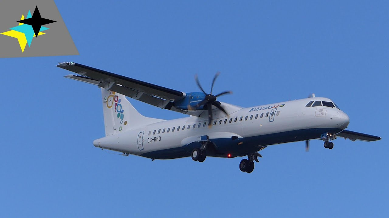 Bahamasair ATR 72 600 Delivery Flight   Low Fly Over   C6 BFQ   YouTube