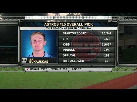 TEX@HOU: Astros draft J.B. Bukauskas 15th overall