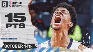Ja Morant Full Highlights vs Charlotte Hornets (2019.10.14) - 15 Pts, 6 Ast!