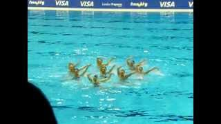 Synchronized Swimming - London 2012 Prepares Series - Russia Free Routine
