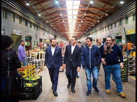 Giancarlo Cancelleri e Luigi Di Maio (M5S) - Mercato agroalimentare di Catania - 7/10/2017