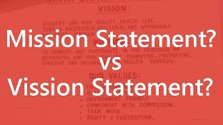 Mission Statement vs Vision Statement - What are the Differences? Business Concepts | SimplyInfo.net