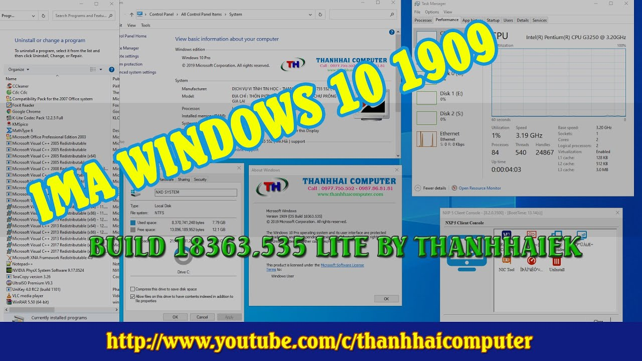 [Review] Ima NXD8 Windows 10 Pro x64 ver 1909 Buid 18363.535
