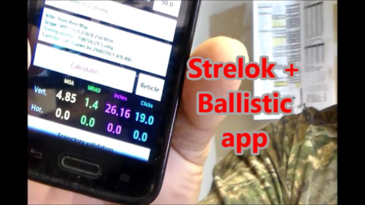 Strelok + Ballistic app