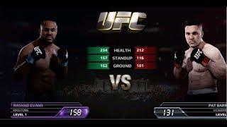UFC EA Sports Boxing Rashad Evans VS Pat Barry Gameplay