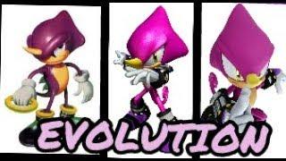 Evolution of Espio the Chameleon in Sonic games (1995-2017)
