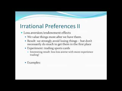 Principles of Microecon 18 - Irrational Preferences