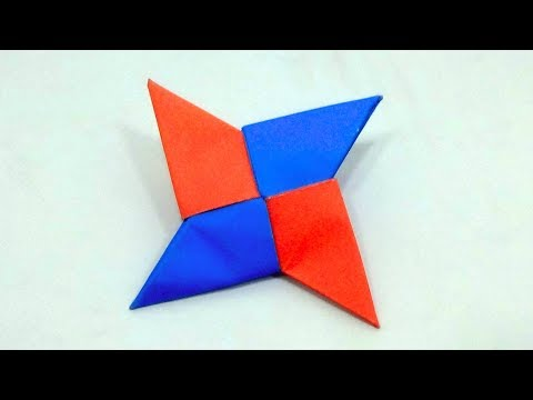 How To Make a Paper Ninja Star Without Glue Or Scissors   DIY Oregami Paper Ninja Star Easy Making