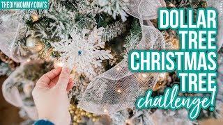 DOLLAR TREE CHRISTMAS TREE DECORATING CHALLENGE!