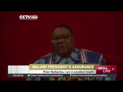 """President Peter Mutharika says he's in """"excellent health"""""""