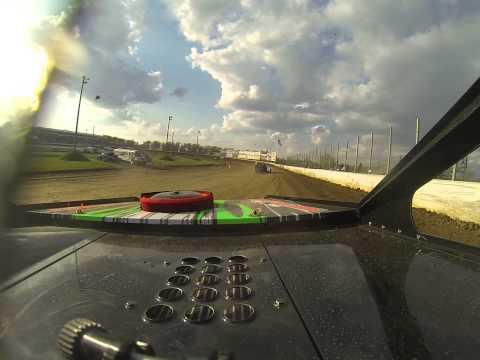 Heat Race at Deer Creek Speedway USRA Modified Brandon Davis