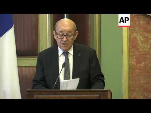 Shoukry meets French FM Le Drian