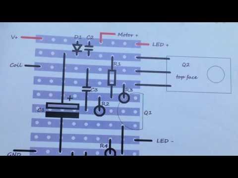 Cross LED Dot Matrix Display Circuit Board Rotating Electronic Kit Part 4.1 Interim