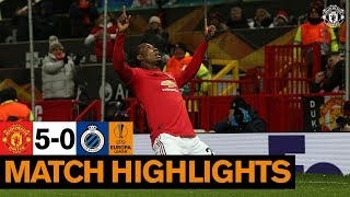Highlights | Manchester United 5-0 Club Brugge | Uefa Europa League