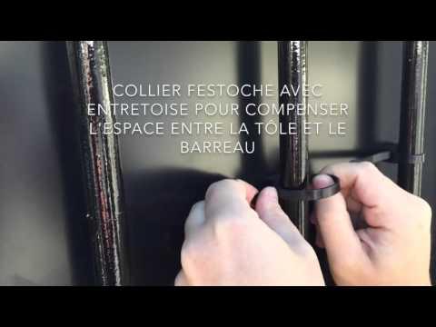 Euro Castor Green Festonnage En Kit Pour Clôture 100 Occultante