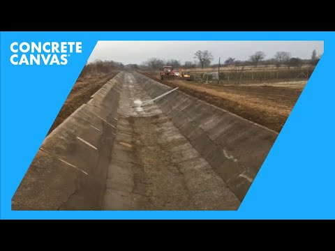 Concrete Canvas (CC) Remediation - Hungary, Tiszafüred Canal