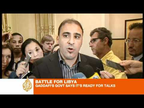 Libyan government spokesman ready for negotiations as long as it is from within Libya.