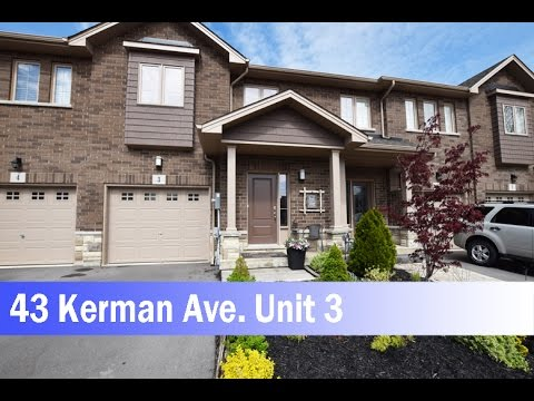 Town House for Sale 43 Kerman Ave. Unit 3, Grimsby, Ontario