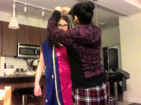 How to put a chunni on your head for Sikh Wedding