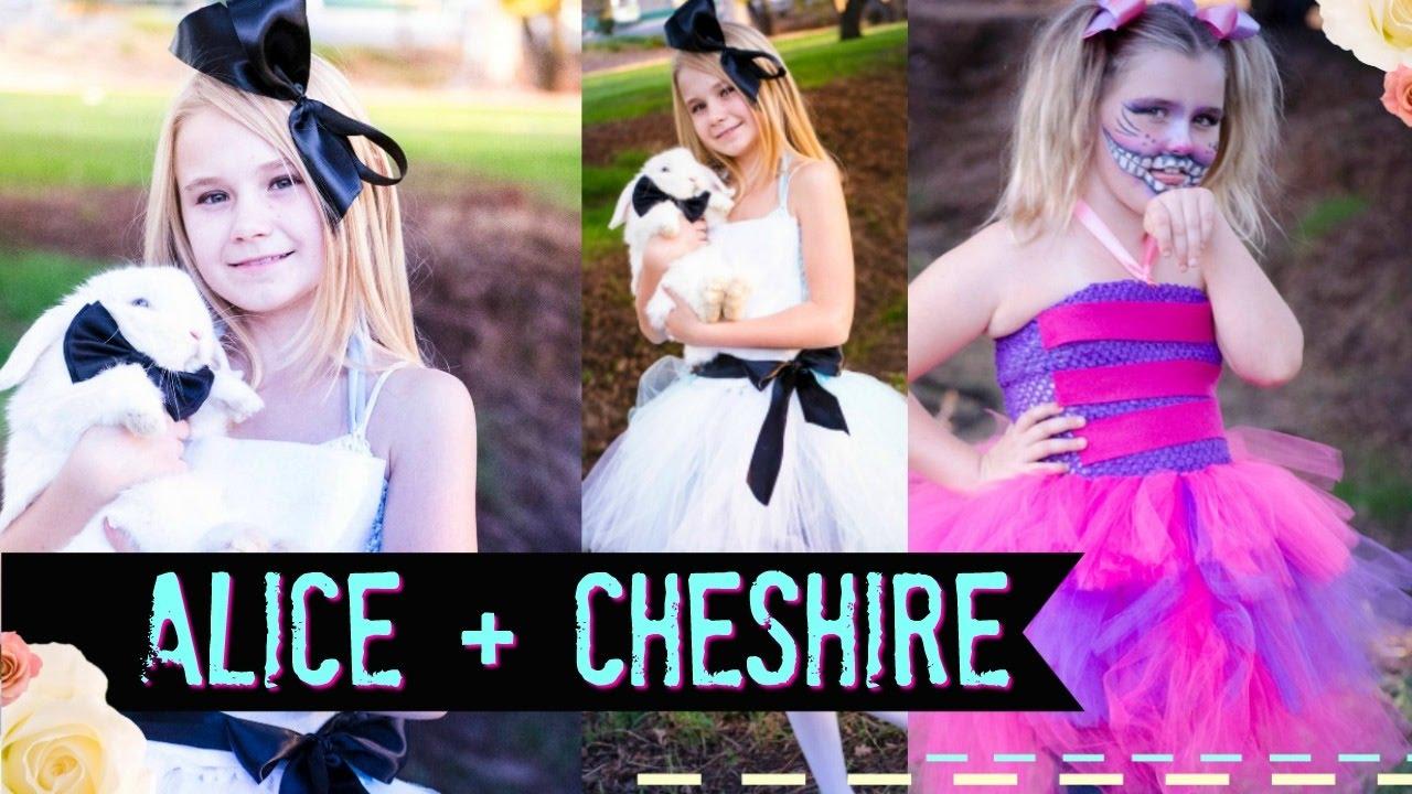 Diy alice in wonderland and cheshire no sew costume tutu youtube solutioingenieria Image collections